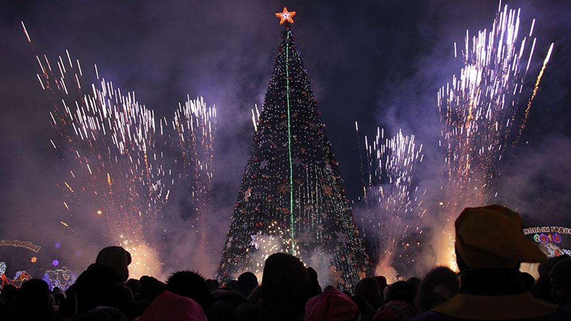 Новогодняя елка в Костанае
